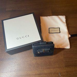 Authentic Black Double G Gucci Wallet